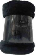 Extra Large Mink Faux Fur Throw 200cm x 240cm Black by Bedding Online