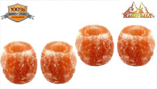 HIMALAYAN PINK ROCK SALT CRYSTAL HEALING ionising T-LIGHT CANDLE HOLDER