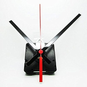 New Radio Controlled Ticking Quartz Clock Movement Mechanism - 130mm Black Hands - Gold Thread 8mm - Faces Up To 6mm Thick)