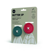 Ototo Button-Up Magnetic Towel Holder, Red/Blue