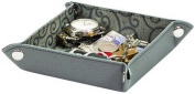 Gents Ladies Grey Leatherette Valet Tray By Mele & Co