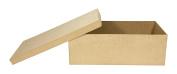 Decopatch Mache Flat Shoe Box, Brown
