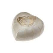 Urns UK Cremation Memorial Heart Keepsake Urn Burford Pearl 7.6cm Keepsake