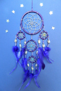 DREAMCATCHER PURPLE COWRIE SHELL DREAM CATCHER