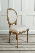 My Furniture - French Louis Style shabby chic OAK Oval Dining Occasional Chair