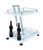 HAKU Furniture Trolley, Metal, Chrome/White