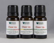 Cheer Up Essential Oil Trio - Eucalyptus+Grapefruit (10 ml.), Lemon+Peppermint (10 ml.), Eucalyptus+Peppermint