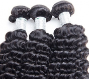Flying Beauty Deep Curl Deep Wave Brown Brazilian 100% Remy Human Hair extensions 50cm , 100g
