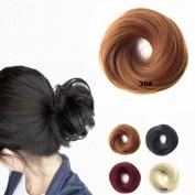 FESHFEN Scrunchy Scrunchie Hairpieces Elastic Messy Hair Bun Ponytail Hair Extensions Wig Drawstring-30# Light Auburn