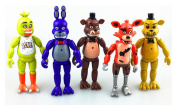 New 5 PCS FNAF Five Nights At Freddy's 15cm Action Figures With Light Toys Games