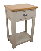 Aspen Painted Oak Sage / Grey 1 Drawer Console Table / Hall Unit With Shelf