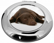 Chocolate Labrador Dog Make-Up Round Compact Mirror Christmas Gift