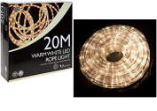 20 Metre Multi Function Warm White LED Rope Light Ideal for Christmas Displays