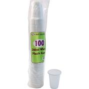 500 x WHITE PLASTIC CUPS - 7oz 200ml disposable glasses .