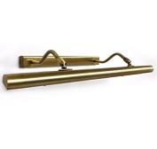 Modern Antique Brass Finish Twin Arm Adjustable Halogen Picture light, 560mm