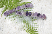 Amethsyst Stone Hair Combs