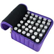 Jmkcoz 36 Bottles Essential Oils Travel Bag Shockproof Portable Essential Oil Carrying Case Suitable for 5ml,10ml,15ml Bottles Purple