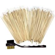 HTS 101P2 201 Pc Cleaning Set, Cotton Tip Swab, Dual Head Nylon/Brass Brush