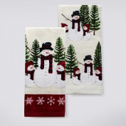 St. Nicholas Square Scenic Snowman Kitchen Towel 2-pk.