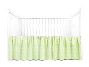 Tadpoles Crib Skirt Classic Gingham, Green