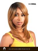HH-MINA (2 Dark Brown) - THE WIG Brazilian Human Natural Hair Blend Wig