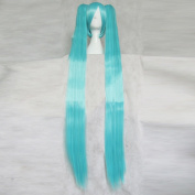 League of Legends Sona Buvelle Long Blue Cosplay Wig + Free Wig Cap + Two 120cm Ponytails