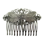 Dragonfly Hair Comb Silver Decorative hair combs Wedding Hair Accessories Dragonfly Hair jewellery