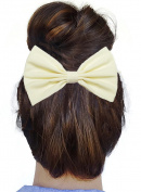 Classic Ivory Hair Bow Clip Hair Accessory Handmade by Sweet in the City