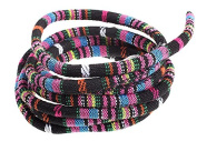 John Bead Outlet 76024008-12 Global Chic Tapestry Cotton Cord,Black/Pink