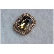 Douqu 2Pcs Silver/Black/Champagne Tone Rhinestone Crystal Removable Wedding Bridal Shoe Clips Shoe Buckle Shoe Accessories