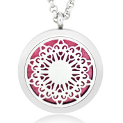 GIONO Aromatherapy Essential Oils Diffuser -Beauty Flower Locket Necklace