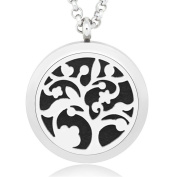 GIONO Aromatherapy Essential Oils Diffuser -Tree of Life Locket Necklace