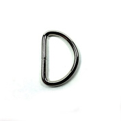 Moxx Metal D Ring 2.5cm Non Welded Nickel Plated Heavy Duty Pack of 50