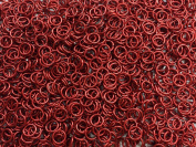 1/2 Pound Red Anodized Aluminium Jump Rings 18G 0.6cm ID
