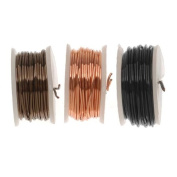 Artistic Wire Buy-The-Three Assortment - Black, Copper, Ant. Brass 26 GA (15 Yd) by Artistic Wire