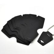 AKOAK 100 Pcs Large Size:12.5cm x 5 cm Blank Black Cardboard Paper Necklace Display Cards Bracelet Display Cards Jewellery Display Hanging Cards