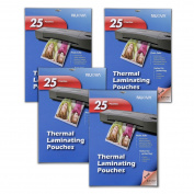 4 Pack - Nuova 5 Mil Thermal Laminating Pouches 13cm x 18cm , Photo Size, 25-Sheet