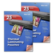 2 Pack - Nuova 5 Mil Thermal Laminating Pouches 13cm x 18cm , Photo Size, 25-Sheet