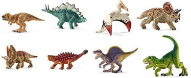 Schleich Mini Dinosaur Set - 8 Styles: Includes Pentaceratops, Tyrannosaurus, Spinosaurus, Saichania, and MORE!
