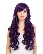 ZUUC® Women's Full Head Beautiful Long Curly Wave Wig