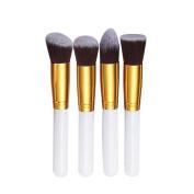 Sunward(TM) 4 Pcs Synthetic Kabuki Flat Foundation Brush Makeup Brushes