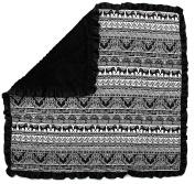 Dear Baby Gear Baby Blankets, Elephants Tribal Bali, Black Minky