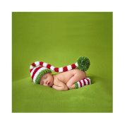 Newborn Infant Handmade Photo Prop Clothes Knit Crochet Baby Photography Props Hat Boots