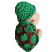 Newborn Handmade Photo Prop Turtle Outfit Clothes Knit Crochet Baby Photography Props