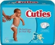 FIRST QUALITY FQCR3001 Prevail Cuties Baby Diapers44; Size 3 - 7.3-13kg.