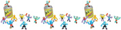 Mutant Mania Round 1 Assortment of 24 Wrestling Figures Bundle (Characters and Styles May Vary) by Moose Toys