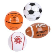 12 Mini SPORTS BALL Beach BALL Inflates/20cm BASEBALL Basketball FOOTBALL SOCCER/INFLATABLE Party Favours by RIN