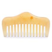 Breezelike Horn Comb - Hair and Beard Comb - No Static Natural Detangler - Handmade Wide Tooth Mini Pocket Comb