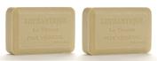 Lothantique Authentique Verbena Shea Butter Vegetable Bar Soap - 2 Bars, 200g Each