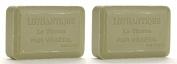 Lothantique Authentique Olive Lavender Shea Butter Vegetable Bar Soap - 2 Bars, 200g Each